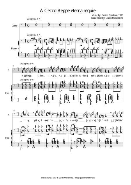 Emilio Cianfoni - A Cecco Beppo (1915)