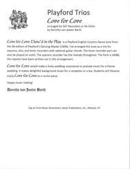 Playford Trios: Love for Love