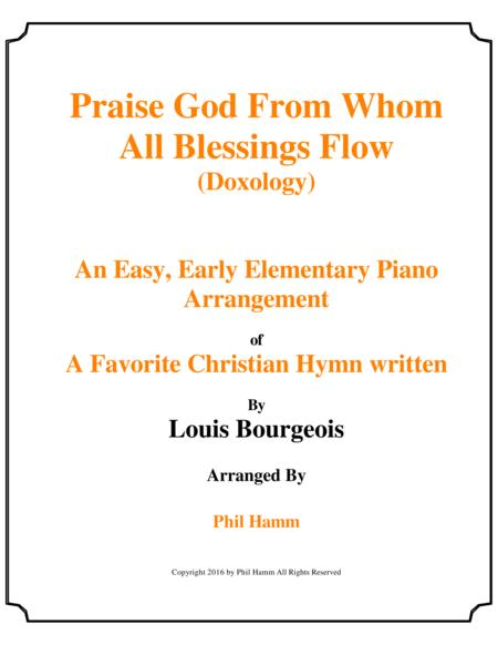 Praise God From Whom All Blessings Flow-(Doxology)-Upper Elementary