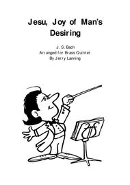 Jesu, Joy of Man's Desiring for brass quintet