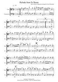Prelude from Te Deum for Viola and Cello Duet