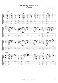Download Thinking Out Loud Fingerstyle Guitar Sheet Music