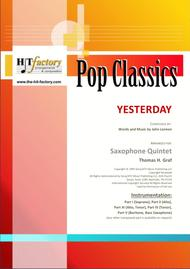 Yesterday - Beatles Classic - Saxophone Quintet