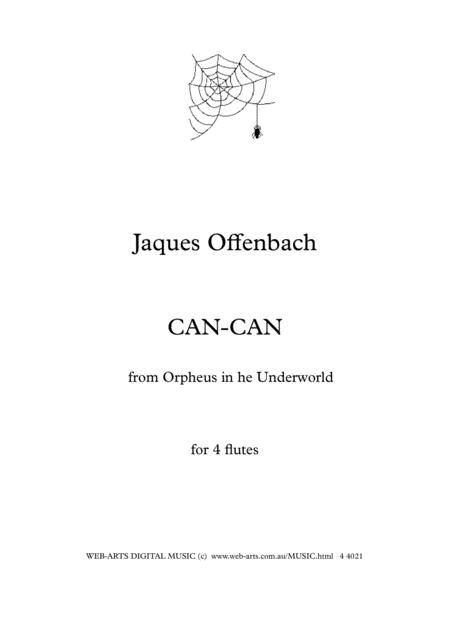 OFFENBACH CAN-CAN from Orpheus in the Underworld  for 4 flutes