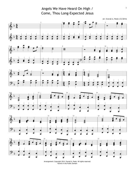 Angels We Have Heard on High / Come Thou Long-Expected Jesus Medley