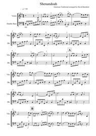 Shenandoah for Violin and Double Bass Duet
