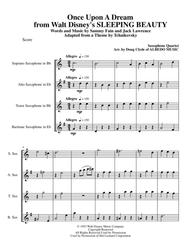 Once Upon A Dream from Walt Disney's SLEEPING BEAUTY for Saxophone Quartet