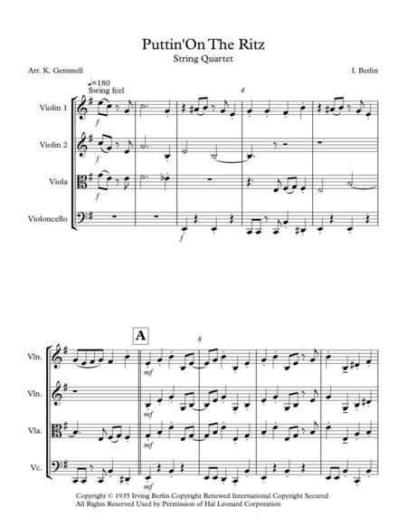 Putting'  On The Ritz: String Quartet