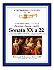 Sonata XX a 22 - No. 213