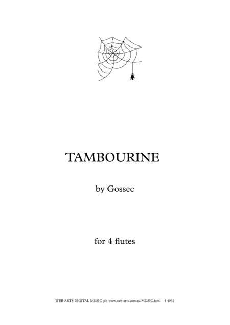 GOSSEC TAMBOURINE for 4 flutes
