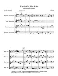 Putting On The Ritz: Saxophone Quartet