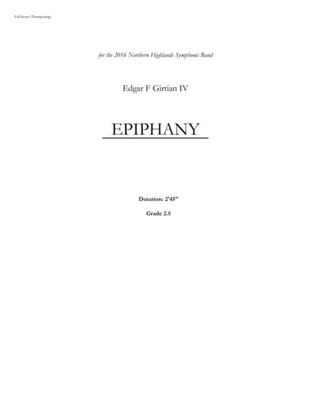 Epiphany for Band (Score and Parts)