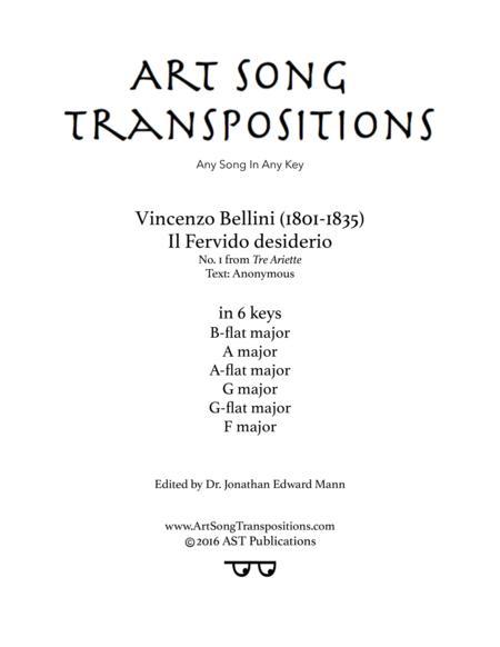 Il fervido desiderio (in 6 keys: B-flat, A, A-flat, G, G-flat, F major)