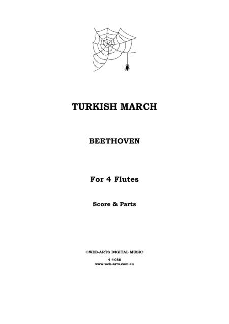 BEETHOVEN TURKISH MARCH from the Ruins of Athens for 4 flutes