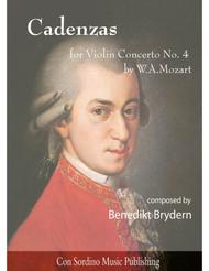 Cadenzas for W.A.Mozart Violin Concerto No.4