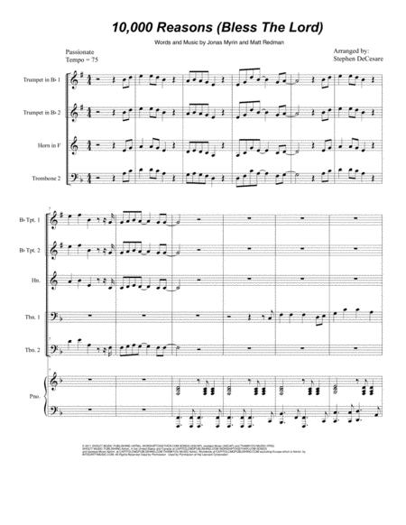 10,000 Reasons (Bless The Lord) (for Brass Quintet)