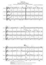 Edelweiss for Violin Quartet