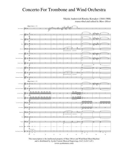 Rimsky Korsakov Trombone Concerto (transcribed for Concert Band)