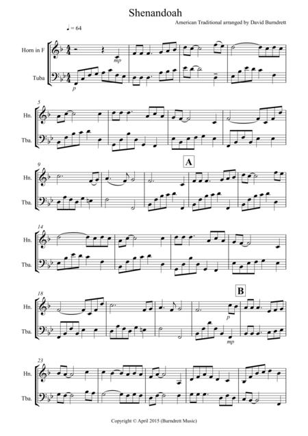 Shenandoah for French Horn and Tuba Duet