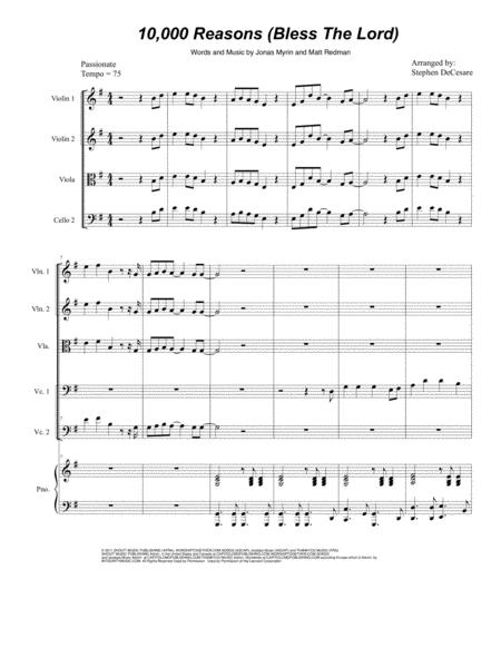10,000 Reasons (Bless The Lord) (for String Quintet)