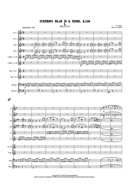 Mozart: Symphony No. 40 in G min K550 Mvt.1 - wind dectet