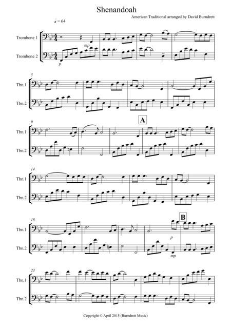 Shenandoah for Trombone Duet