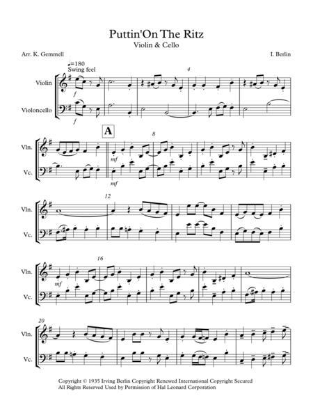 Puttin' On The Ritz: Violin & Cello Duet