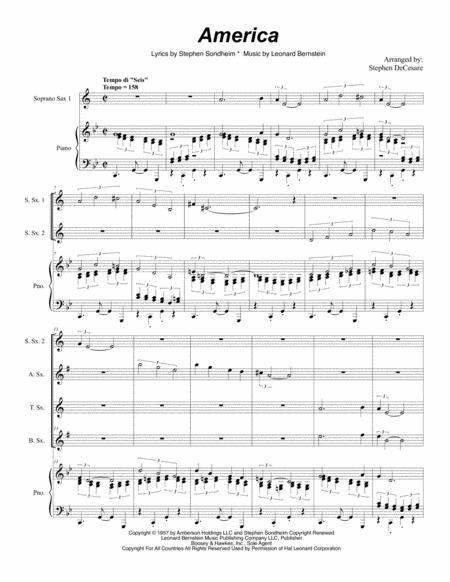 America (for Saxophone Quintet)