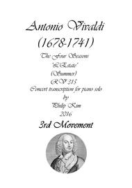 'Summer' (3rd movement) from The Four Seasons by Vivaldi for Piano Solo