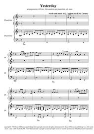 Yesterday (piano 4 hands)
