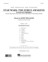 Star Wars: The Force Awakens Soundtrack Highlights - Conductor Score (Full Score)