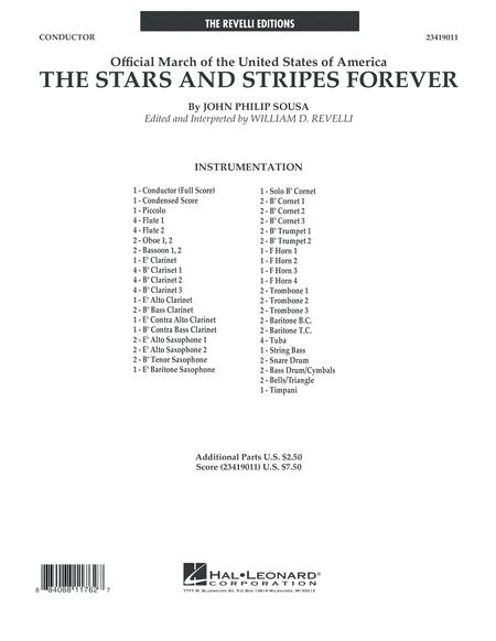 The Stars and Stripes Forever - Conductor Score (Full Score)