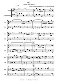 Air on a G String for Violin and Double Bass Duet