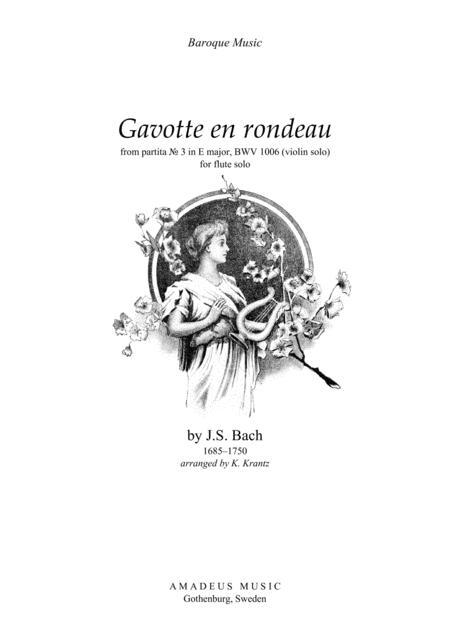 Gavotte en rondeau BWV 1006 for flute solo