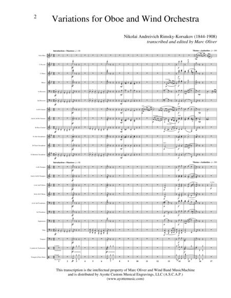 Variations for Oboe and Wind Band