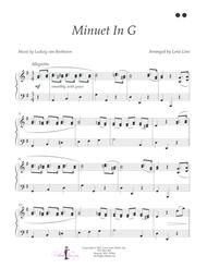 Download Minuet In G (Beethoven) - EASY! Sheet Music By
