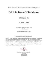 O Little Town Of Bethlehem - EASY!