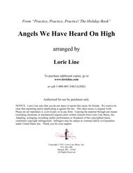 Angels We Have Heard On High - EASY!