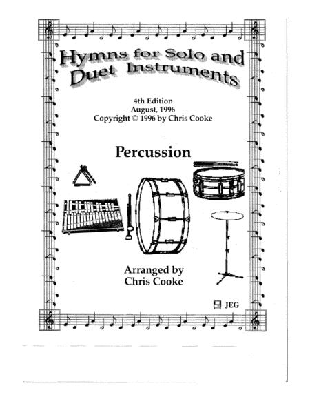Hymns for Solo and Duet Instruments Percussion Book