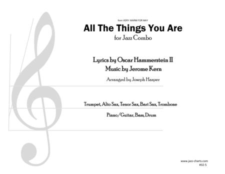 All The Things You Are (Trumpet, Alto Sax, Tenor Sax, Baritone Sax, Trombone, and Rhythm Section)