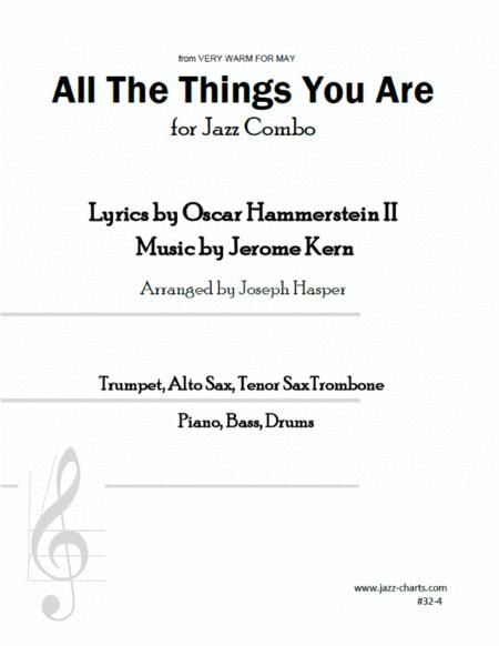 All The Things You Are (Trumpet, Alto Sax, Tenor Sax, Trombone, and Rhythm Section)