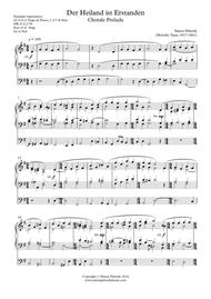 Organ Der Heiland ist Erstanden, Easter Chorale Prelude
