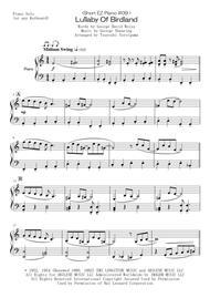 <Short EZ Piano #09 > Lullaby Of Birdland