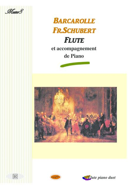 Barcarolle Flute piano duet de Schubert