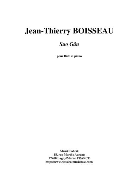 Traditional Welsh Lullaby: Suo Gân, arranged for flute and piano by Jean-Thierry Boisseau