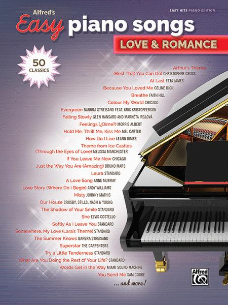 Alfred's Easy Piano Songs -- Love & Romance