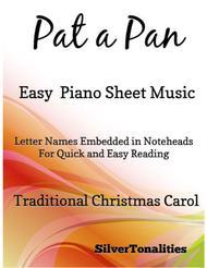 Pat a Pan Easy Piano Sheet Music