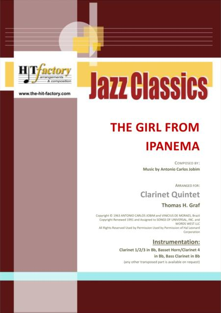 The Girl From Ipanema (Garota de Ipanema) - Jobim - Bossa Nova - Clarinet Quintet