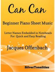 Can Can Beginner Piano Sheet Music