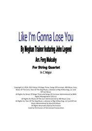 Download Like I'm Gonna Lose You By Meghan Trainor Featuring John